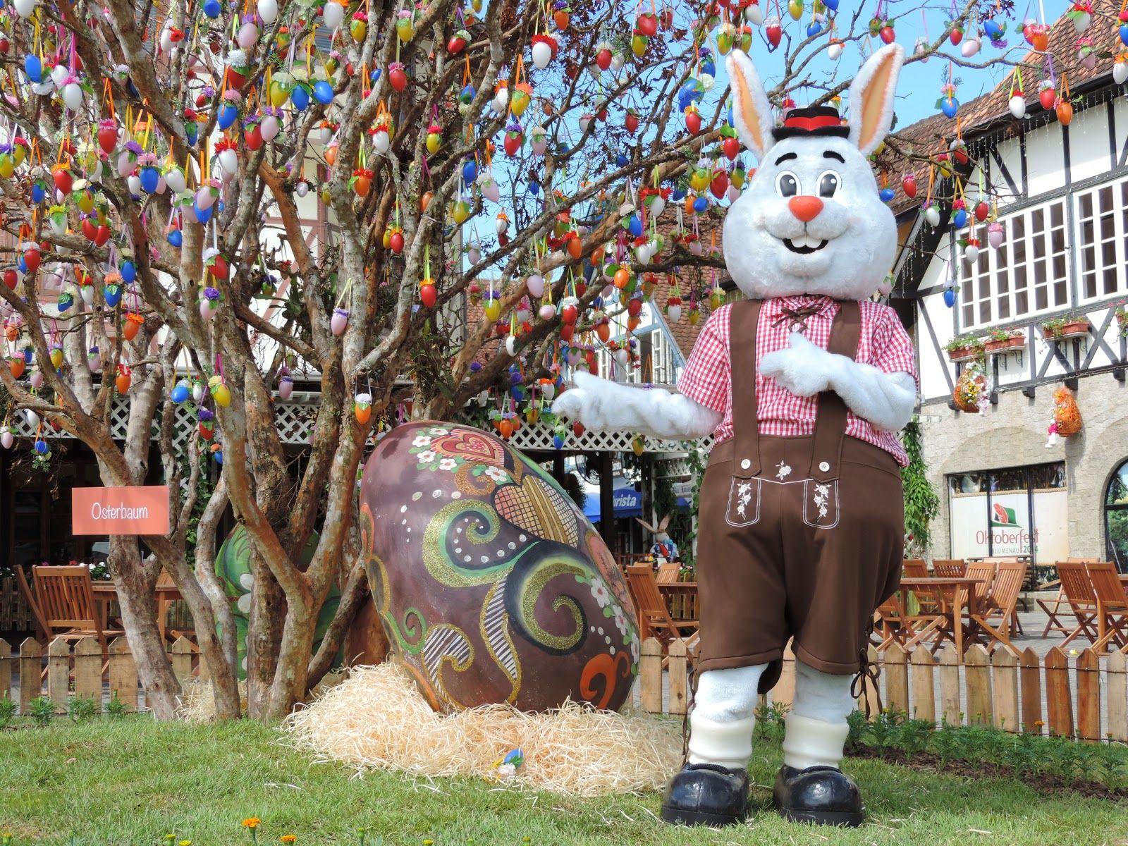 Árvore de óvos na páscoa - Divulgação Portal Falando de Turismo