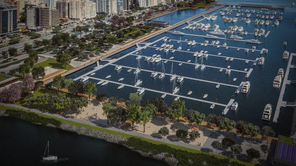 Beira Mar de Florianópolis vai receber parque urbano e Marina