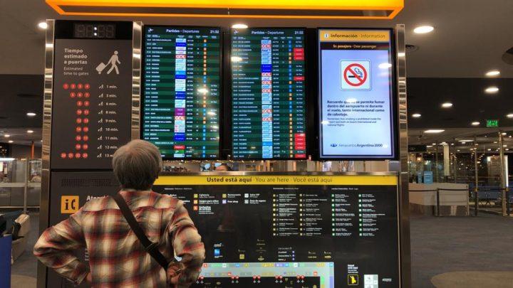 Argentina suspende todos os voos até o mês de setembro