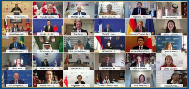 G20 traça cenários para retomada do setor de turismo de forma segura